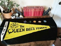 Very Rare 1950s Enid Blyton Queen Bee Pdsa Pennant Letter Signed Photo Charity