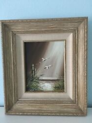 Vintage 1978 Original Oil Painting Seagull By Gordon Smith Certified