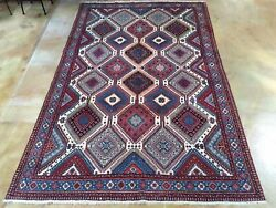 Traditional Hand-knotted Pre Owned Tribal Handmade Wool Rug 6.6 X 10.5 Brrsf-357