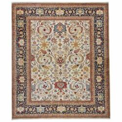 Oriental Hand-knotted Tribal Design Handmade 100 Wool Rug 7.11 X 9.9 Brrsf-1281