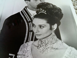 AUDREY HEPBURN RARE My Fair Lady Ball Gown Close Up Vintage Still PHOTO bw 8x10