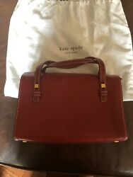 Kate Spade New York Small Smooth Leather Red Bag $85.00