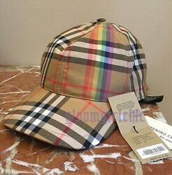 Vintage Nova Check Rainbow Baseball Cap In M/l Sold Out Last One Bnwt
