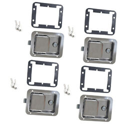 4 Set Yacht Rv Stainless Steel Paddle Lock Latch And Key For Tool Box Door