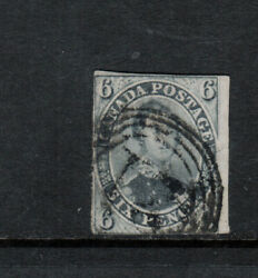 Canada 5d Used Fine Grey Violet Thick Hard Paper Expert Repaired Tear And Thin