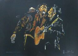 Ronnie Wood Paint It Black-pretty Beat Up Keith + B.f.hand Signed Rolling Stones