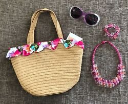 Gymboree SURF ADVENTURE Girls Accessories Purse Necklace Bracelet Sunglasses EUC