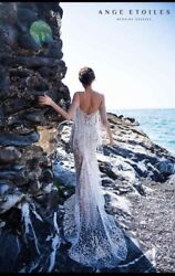 Ange Etoiles Tailor Made Wedding Dress 2019 Collection With Long Train And Wings