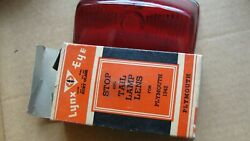 1942 Plymouth Lynx Eye Stop Andtail Lamp Lens 1pc Vintage Stock Ruby Glass Xlnt