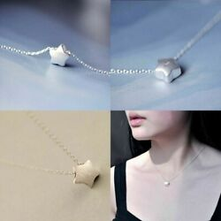 For Little Silver Chain Lovely Charm Women Star Jewelry 925 Pendant Necklace
