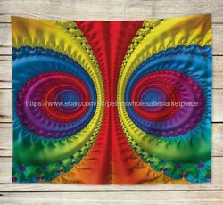 psychedelic trippy art wall tapestry window curtain decoration