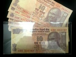 India 10 Rupees With Gandhi Picture Banknote World Paper Money Uncirculated