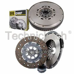 ECOCLUTCH 3 PART CLUTCH KIT AND LUK DMF FOR AUDI 100 BERLINA 2.6 QUATTRO