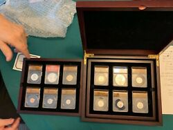 Graded 2018 Silver Reverse Proof Set In A Beautiful Mahogany Case 6