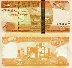 Ethiopia 50 Birr Banknote World Paper Money Currency Pick P51e 2011 Ee 2003
