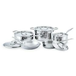 Heritage Steel 7-ply Stainless 10-piece Core Cookware Set