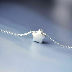 Lovely Little Star Pendant Charm Chain Necklace For Women Silver plated Jewelry