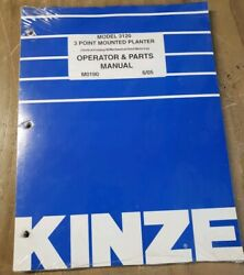 Kinze Model 3120 3 Point Mounted Planter Operator And Parts Manual 1j-2377-y21