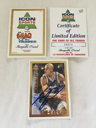 Shaquille O'neal Autographed 1993 Icon 12 Cards Signed W/coa Rare 50k Sets Made