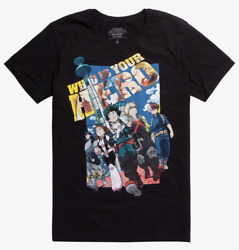 My Hero Academia TWO HEROES MOVIE T-Shirt NEW Authentic & Official $19.95