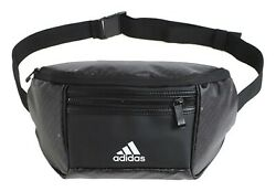 Adidas PU Coating Waist Cross Bags Black Waist belt Bag Casual GYM Sacks DW4312 $49.99