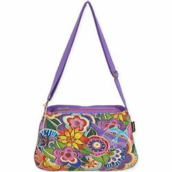 Laurel Burch LB5573 Medium Crossbody 10 x 14.5 in. Carlotta#x27;s Garden $27.99