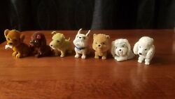 Puppy In My Pocket Series 1 Assortment of 7 Puppy Dogs Flocked Fuzzy