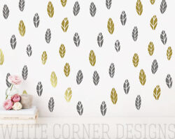 Leaves Wall DecalsTree leaves Wall Decal Vinyl Wall Decals Wall Decor ga72
