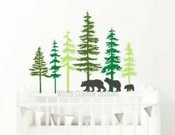 3 Color Pine Tree Forest Wall DecalsTree Wall Decals Forest Mural Forest tree