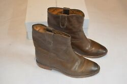 Isabel Marant Etoile Brown Crisi Cluster Leather Flat Ankle Wedge Boots EU40 UK7