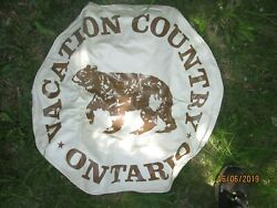 Rare Vintage Sterling Pro Nos Spare Wheel Tire Cover 14 And 15 Inch Ontario Canada