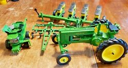 Lot Of 4 John Deere Toy Ertl Tractor And Farm Equipment Parts And Repair
