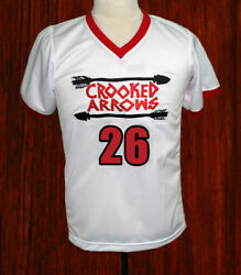 Crooked Arrows Tyler Hill Silverfoot Lacrosse Movie Jersey New Sewn Any Size