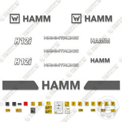 Hamm H12i Decal Kit Soil Compactor Roller Decals - 7 Year 3m Vinyl