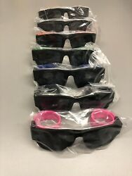 7 pieces!!! Unsex Polarized Folding Sunglasses w Slap Sport Foldable Wristband
