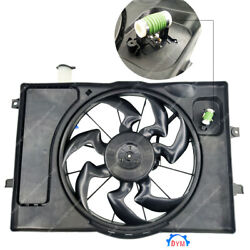 Radiator Ac Condenser Cooling Fan Assembly For 2017 2018 Hyundai Elantra 2.0l Gt