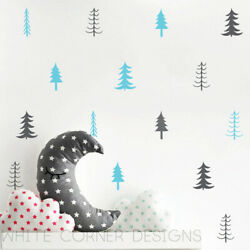 Tree Wall Decals Multi Colored Wall Decals Nursery Decals Unique Wall Decor