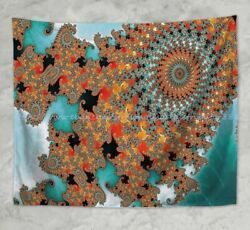 psychedelic trippy wall hanging tapestry dorm room wall art