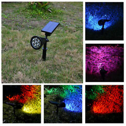 1pc Solar Power Waterproof Spotlight Outdoor Garden Lamp Lawn Landscape Lights