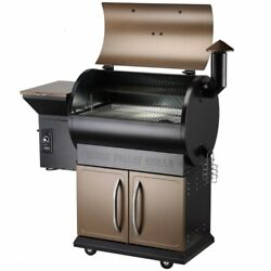 Outdoors Barbecue Grill Smoker Cooker Fuel Wood Pellet Portable Deluxe Cabinet