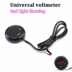 High Quality Mini Red Led Digital Voltage Meter Guage For Yamaha Mt-09 Mt07