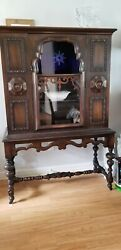 Victorian Style Antique Walnut Set With Six Chairs