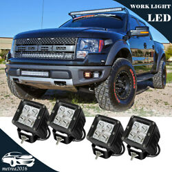 For Truck Ford 4x3inch 16W Dual LED Pod Lights Front Bumper Grille Foglight