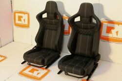 Lri Leather Oem Heated Front Corbeau Low Base Seats Fit Land Rover Defender