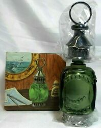 Avon Vintage Whale Oil Lantern Decanter Empty Tai Winds After Shave Orig. Box