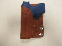Fits Glock 43 With Ct Laser Brown Leather Wallet And Pocket Holster Right Hand