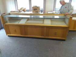 Your Choice Of Three Vintage Solid Hardwood And Glass Jewelry Display Cases