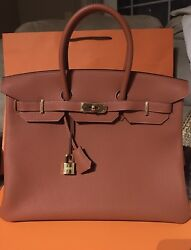**Brand New **HERMES 35 BIRKIN GOLD HARDWARE TOGO LEATHER Cuivre New Color