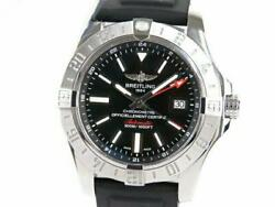 Breitling Avenger Ii Gmt A32390 Watch Black Dial Used Ex++
