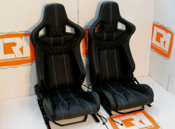Full leather OEM heated front Corbeau high base seats Fit Land Rover Defender 90